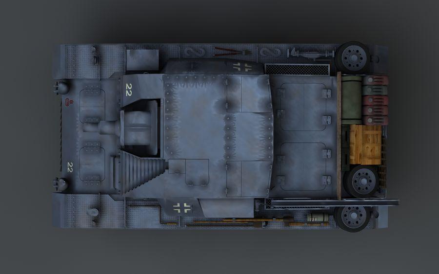 Sturmgeschütz III Второй мировой войны немецкий танк royalty-free 3d model - Preview no. 9