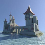 Zee kasteel 3d model