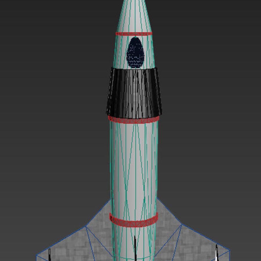 Retro Scifi Rocket royalty-free 3d model - Preview no. 4