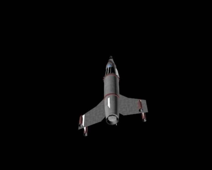 Retro Scifi Rocket royalty-free 3d model - Preview no. 2