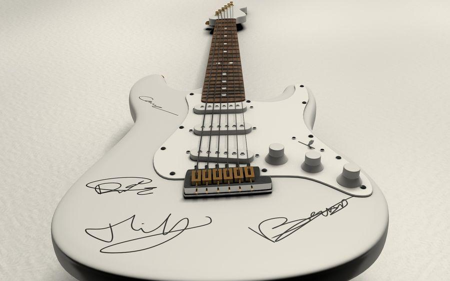 サイン入りギター royalty-free 3d model - Preview no. 4