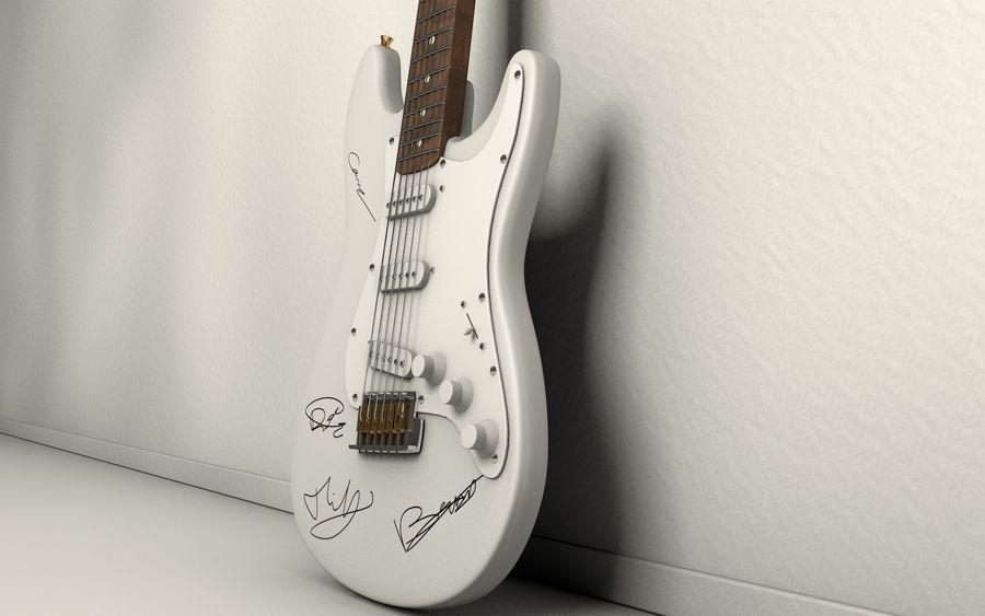 サイン入りギター royalty-free 3d model - Preview no. 5