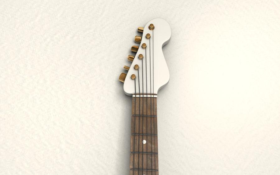 サイン入りギター royalty-free 3d model - Preview no. 6