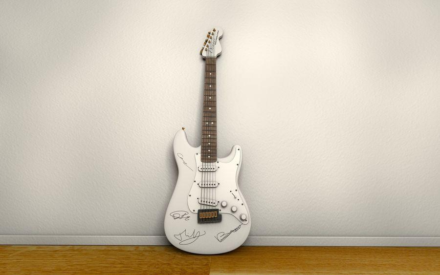 サイン入りギター royalty-free 3d model - Preview no. 3