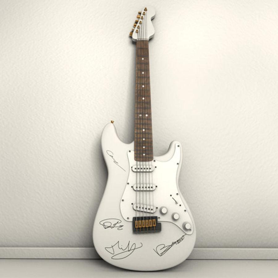 サイン入りギター royalty-free 3d model - Preview no. 2