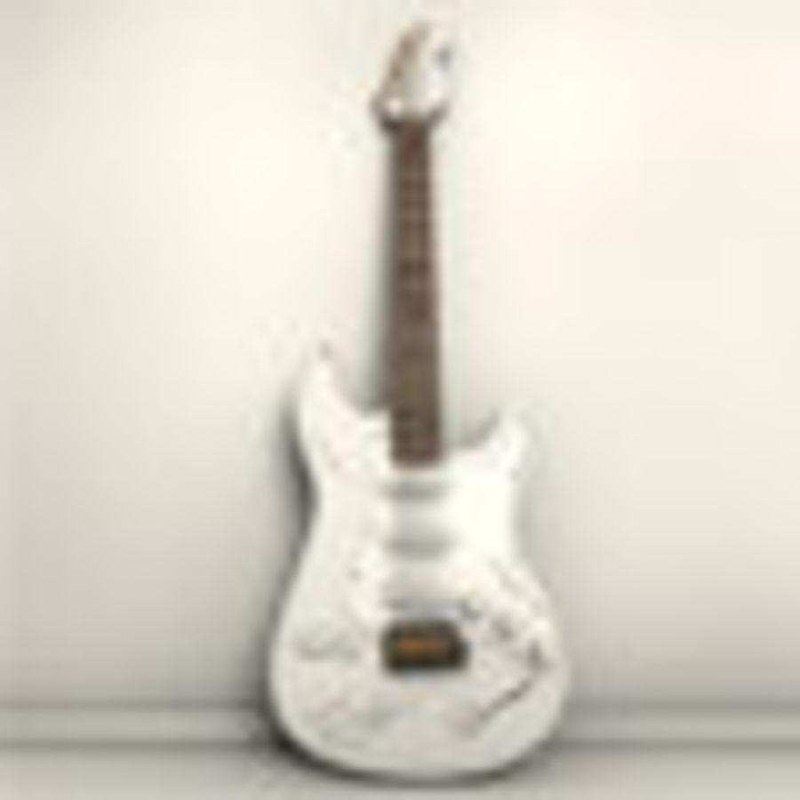 サイン入りギター royalty-free 3d model - Preview no. 1
