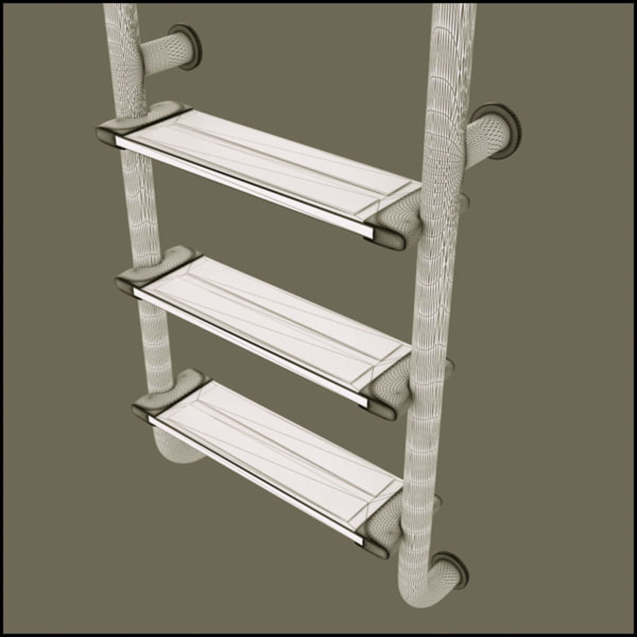 Swimming Pool Ladder Steps royalty-free 3d model - Preview no. 6