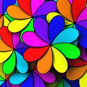Ventilador de colores con palas suaves modelo 3d