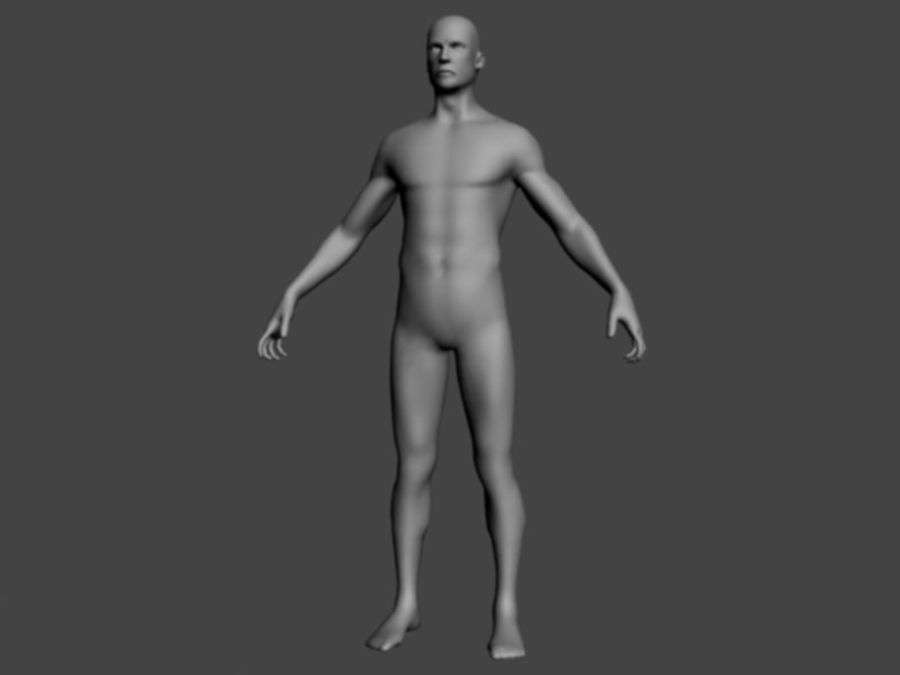ベースメッシュ男性 royalty-free 3d model - Preview no. 1