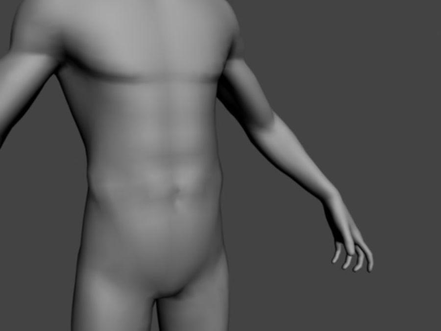 taban örgü erkek royalty-free 3d model - Preview no. 4