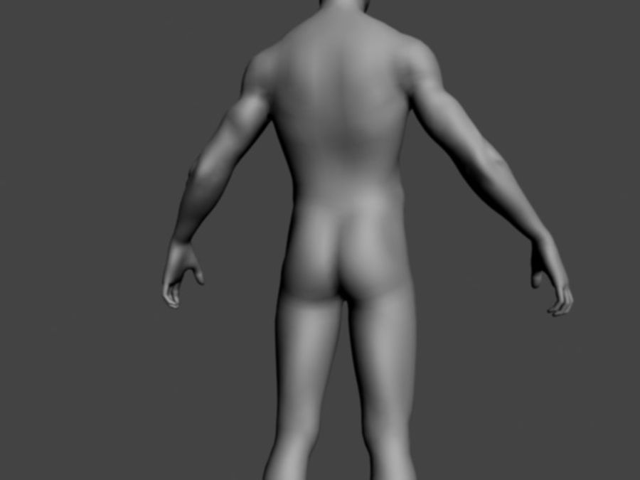 ベースメッシュ男性 royalty-free 3d model - Preview no. 5
