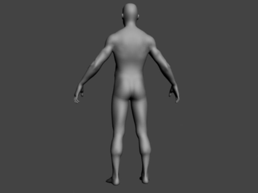 ベースメッシュ男性 royalty-free 3d model - Preview no. 2
