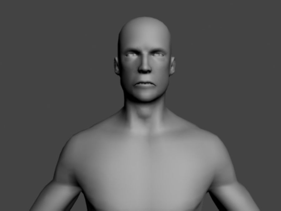 ベースメッシュ男性 royalty-free 3d model - Preview no. 3