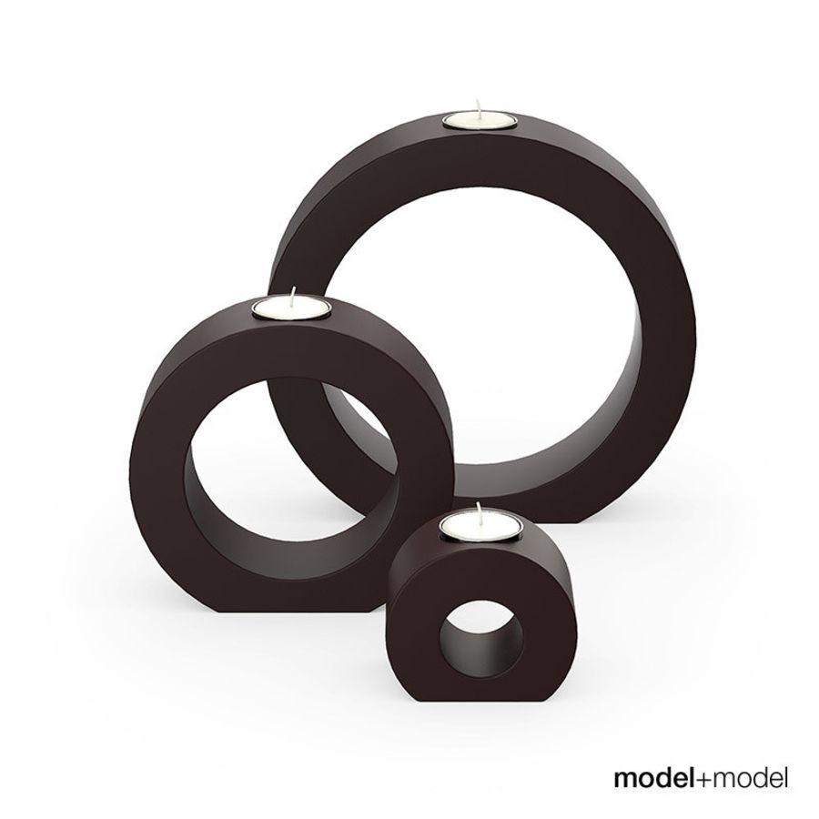Daire seramik mumluklar royalty-free 3d model - Preview no. 1