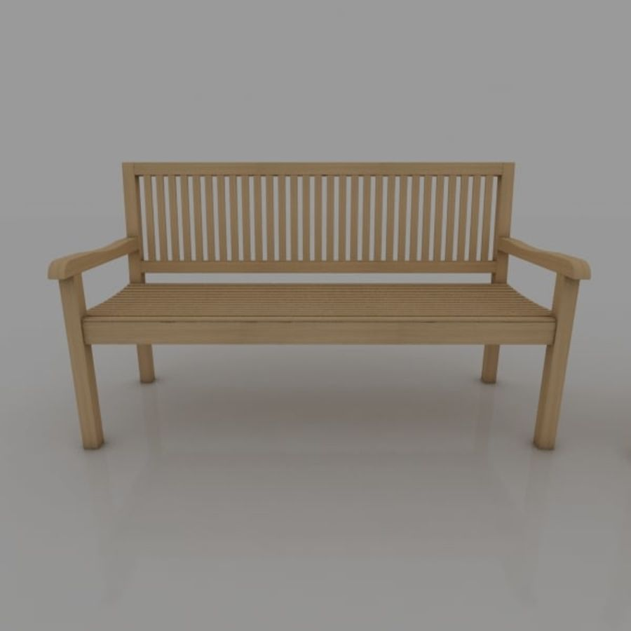Bench and Armchair royalty-free 3d model - Preview no. 3