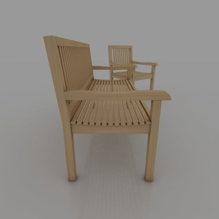 Bench and Armchair royalty-free 3d model - Preview no. 4