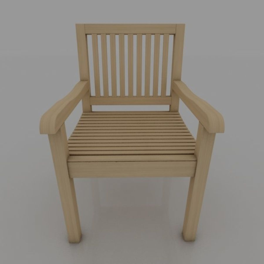 Bench and Armchair royalty-free 3d model - Preview no. 2