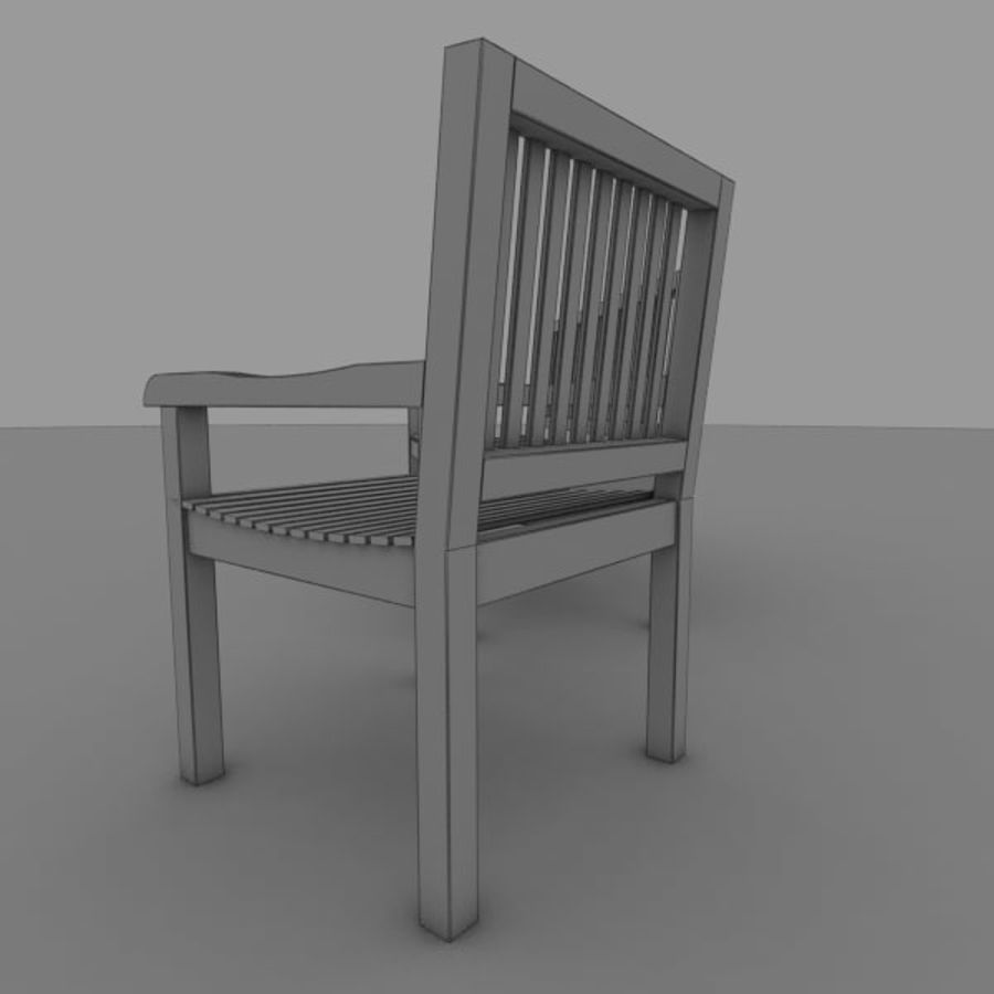 Bench and Armchair royalty-free 3d model - Preview no. 6