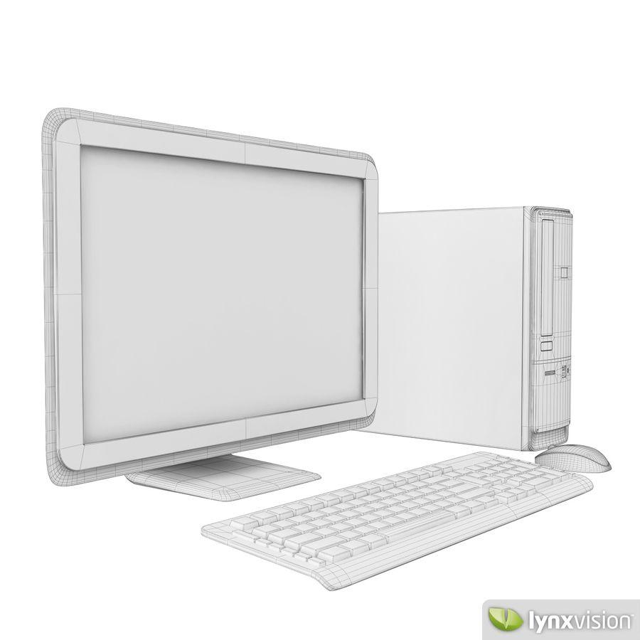 HP Pavilion Slimline Desktop Computer royalty-free 3d model - Preview no. 4