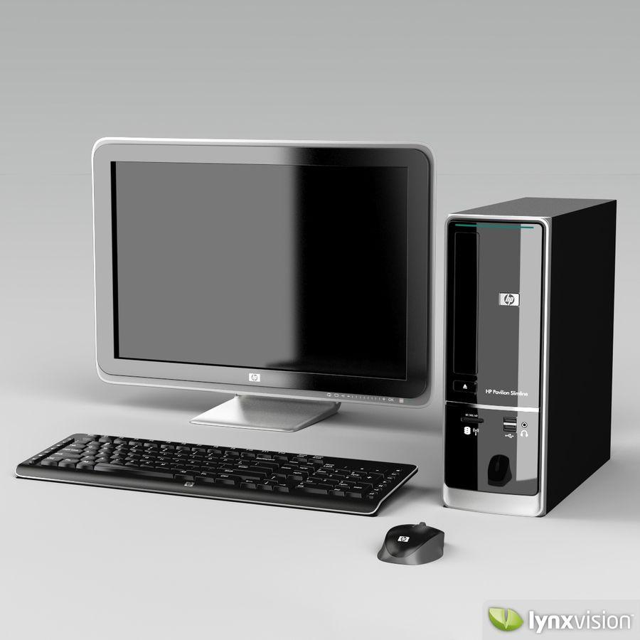 HP Pavilion Slimline Desktop Computer royalty-free 3d model - Preview no. 2