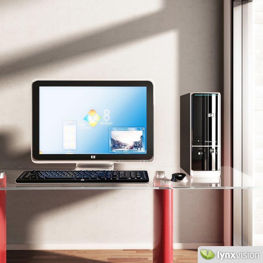 HP Pavilion Slimline Desktop Computer royalty-free 3d model - Preview no. 1