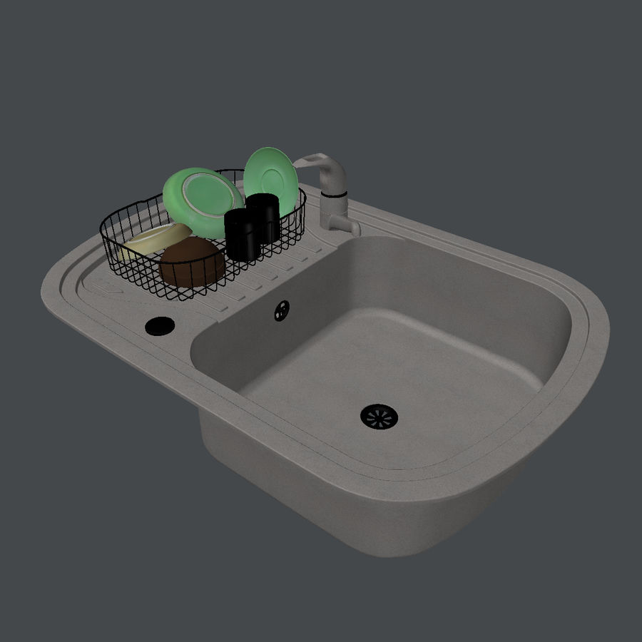 Sink Atom royalty-free 3d model - Preview no. 5