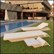 Комплект мебели для шезлонга на открытом воздухе 3d model