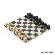 Bauhaus Chess set 3d model