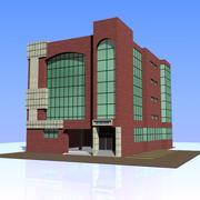 Здание банка 01 3d model