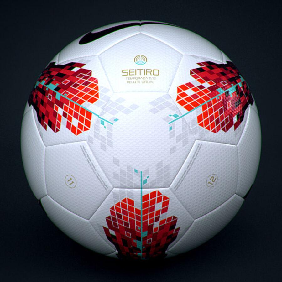 2011 2012 Spaanse La Liga-wedstrijdbal royalty-free 3d model - Preview no. 2