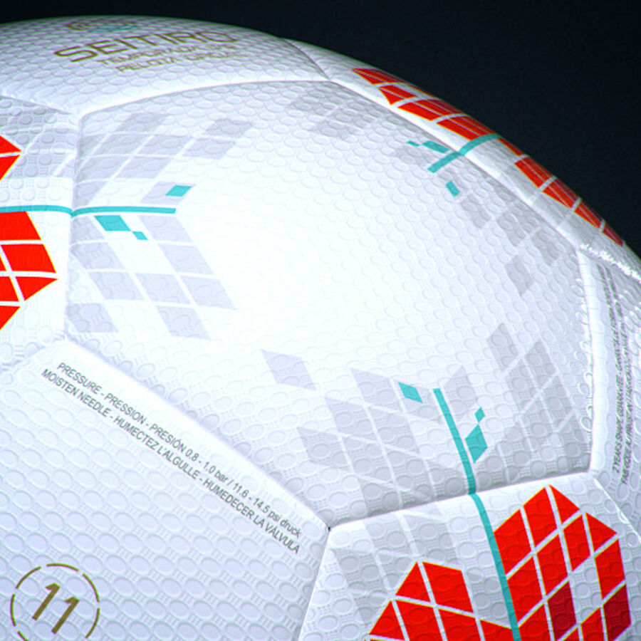 2011 2012 Spaanse La Liga-wedstrijdbal royalty-free 3d model - Preview no. 7
