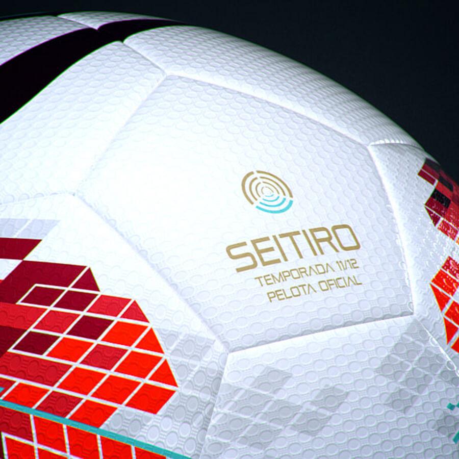 2011 2012 Spaanse La Liga-wedstrijdbal royalty-free 3d model - Preview no. 8