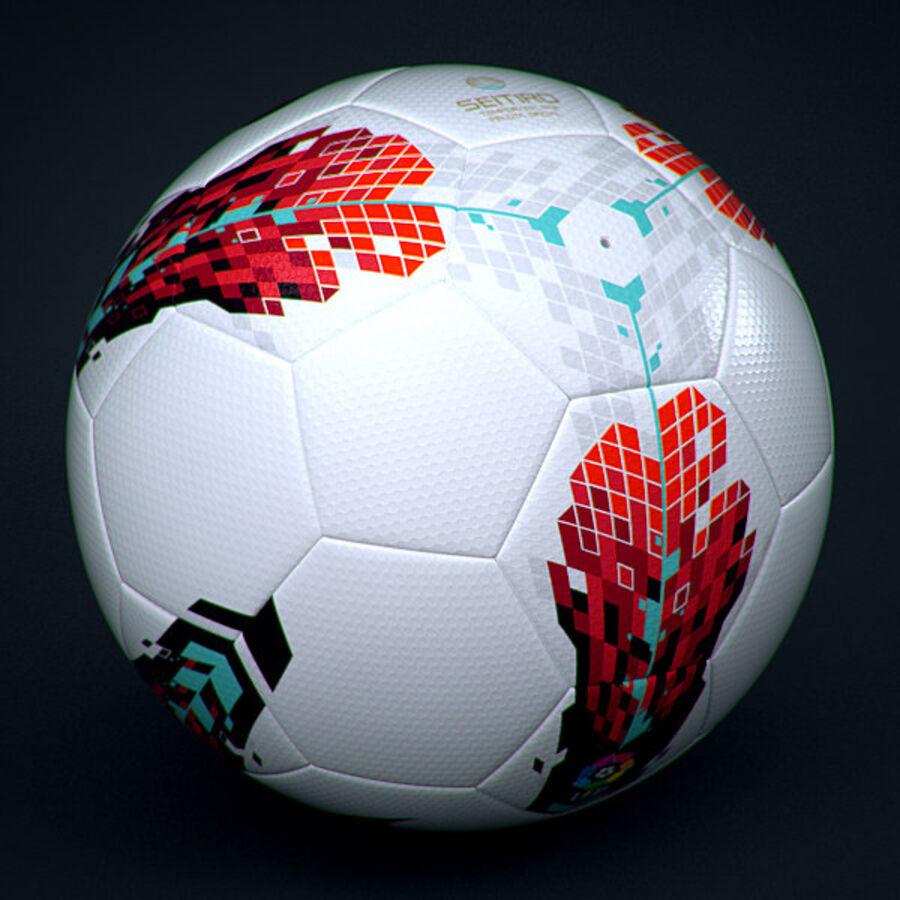 2011 2012 Spaanse La Liga-wedstrijdbal royalty-free 3d model - Preview no. 4