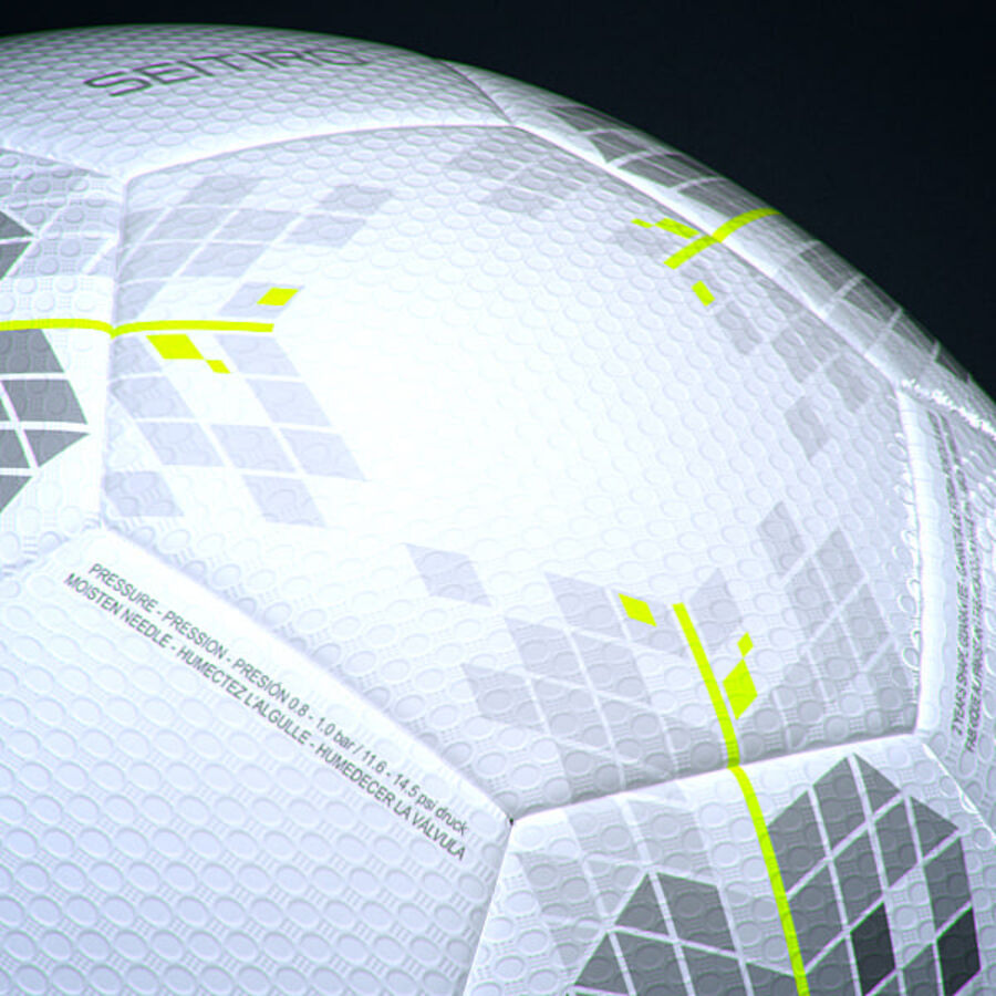 2011 2012 Nike T90 Seitiro wedstrijdbal royalty-free 3d model - Preview no. 7