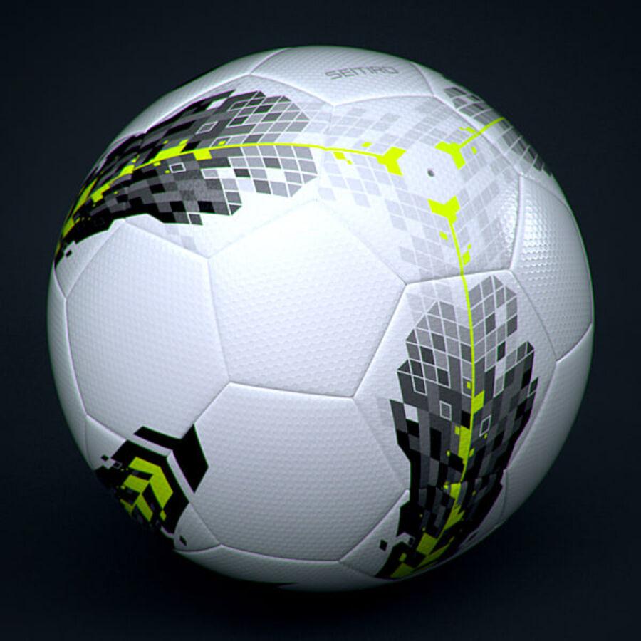 2011 2012 Nike T90 Seitiro wedstrijdbal royalty-free 3d model - Preview no. 4