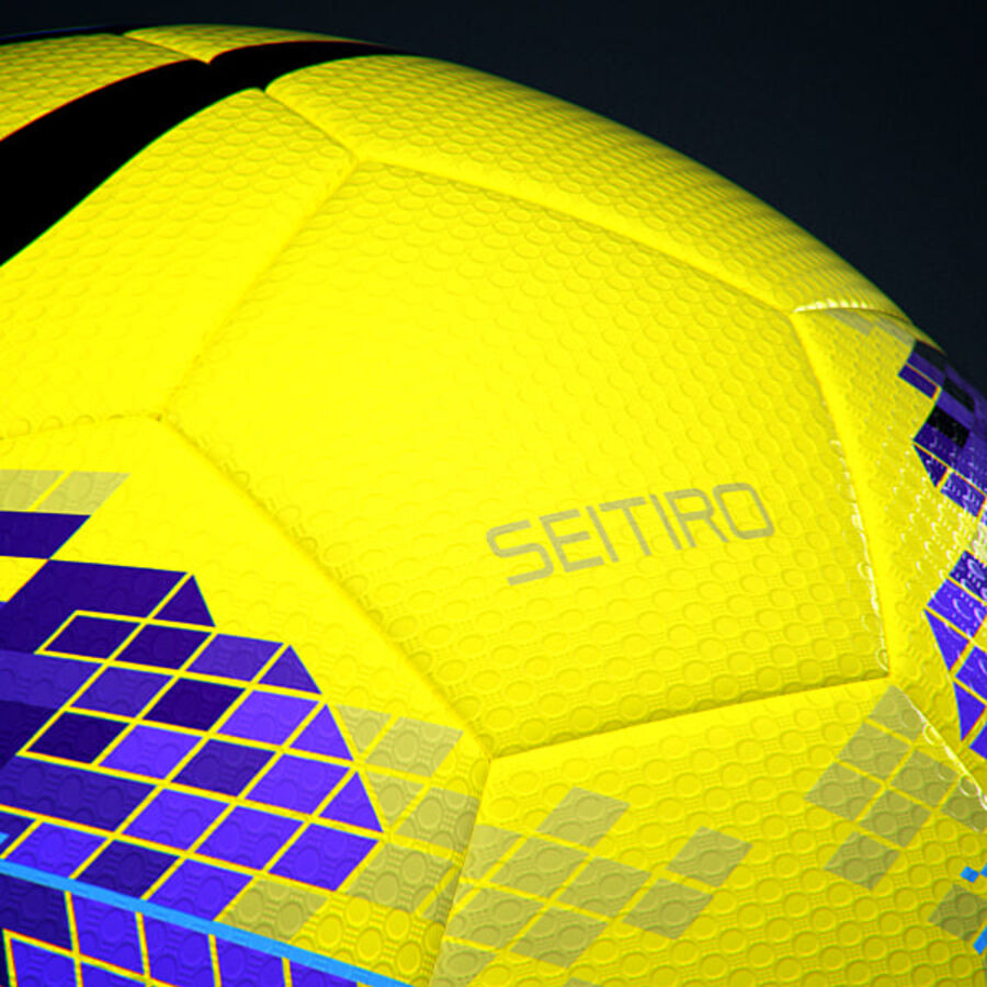 2011 2012 Nike T90 Seitiro Winter Hi-Vis Match Ball royalty-free 3d model - Preview no. 8