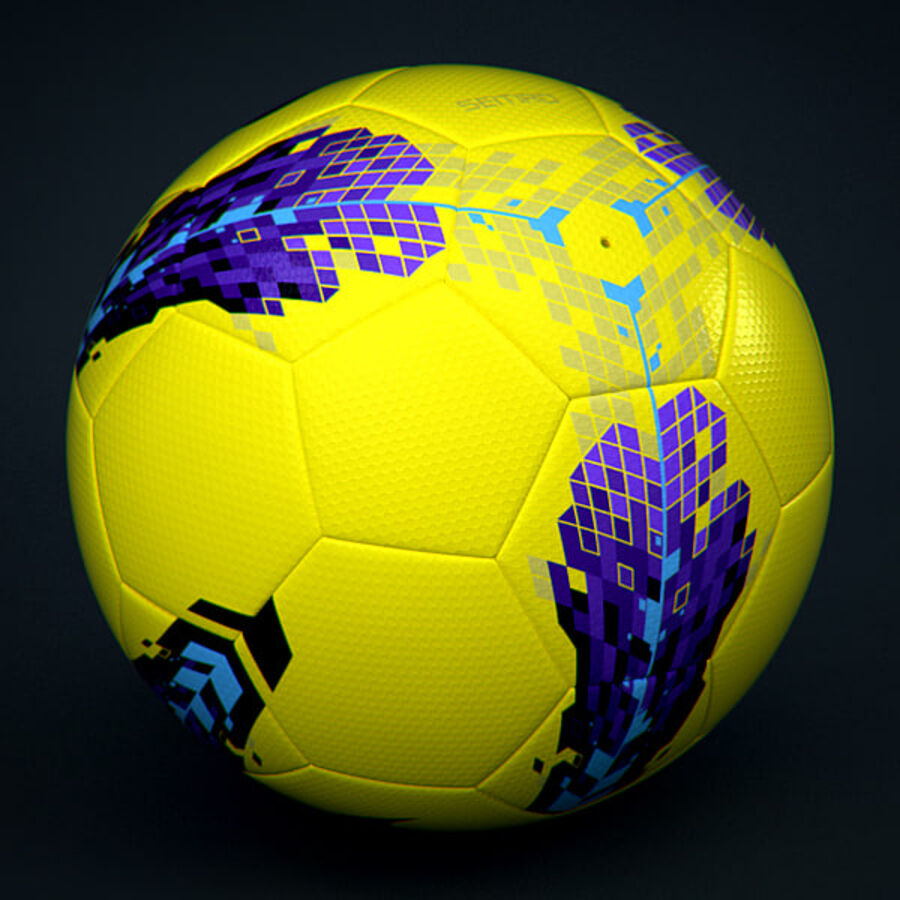 2011 2012 Nike T90 Seitiro Winter Hi-Vis Match Ball royalty-free 3d model - Preview no. 4