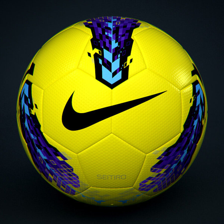 2011 2012 Nike T90 Seitiro Winter Hi-Vis Match Ball royalty-free 3d model - Preview no. 3