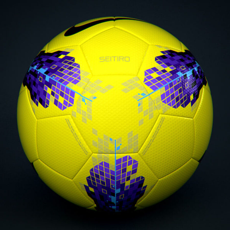 2011 2012 Nike T90 Seitiro Winter Hi-Vis Match Ball royalty-free 3d model - Preview no. 2