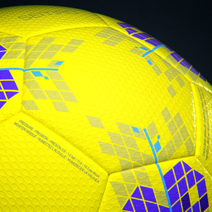 2011 2012 Nike T90 Seitiro Winter Hi-Vis Match Ball royalty-free 3d model - Preview no. 7