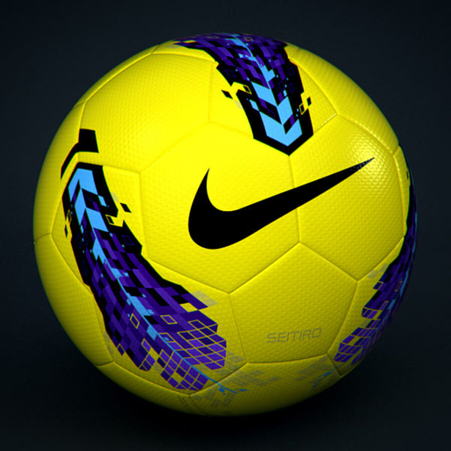 2011 2012 Nike T90 Seitiro Winter Hi-Vis Match Ball royalty-free 3d model - Preview no. 1