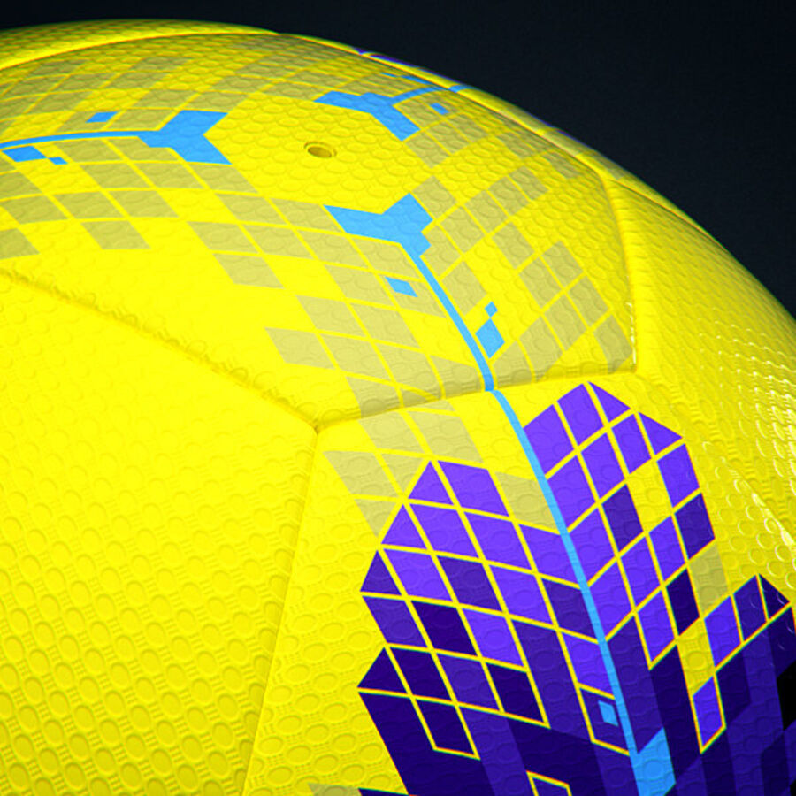 2011 2012 Nike T90 Seitiro Winter Hi-Vis Match Ball royalty-free 3d model - Preview no. 6