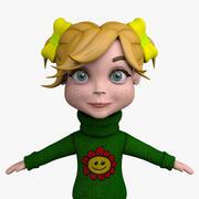 Мультипликационная девочка Миа 3d model
