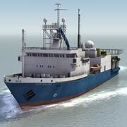 Marine Survey Ship 3d model