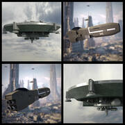 2 Raumschiffe 3d model