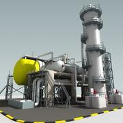 Raffinaderi enhet 3d model