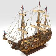 船のおもちゃ 3d model