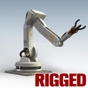 Rigged Industrial robot 3d model