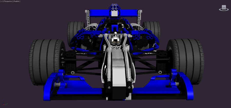 Lego #8461 Williams F1 Team Racer royalty-free 3d model - Preview no. 3