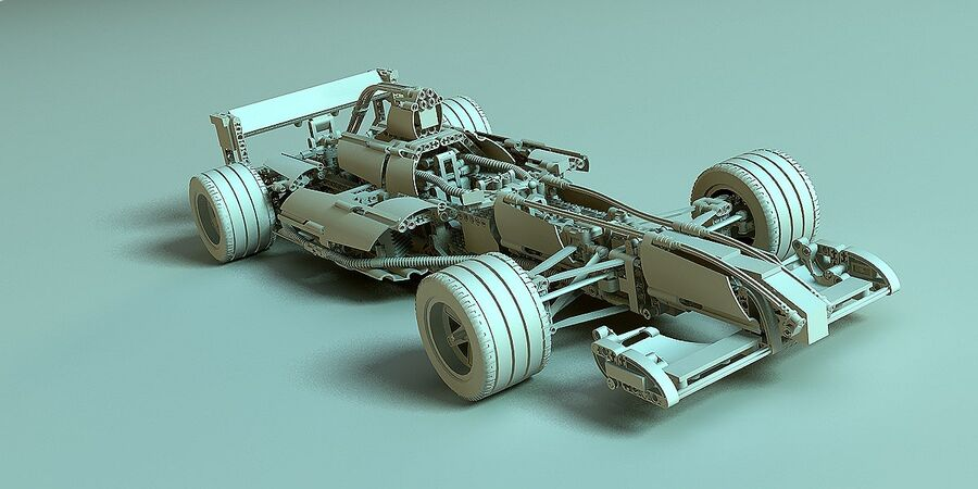Lego #8461 Williams F1 Team Racer royalty-free 3d model - Preview no. 2